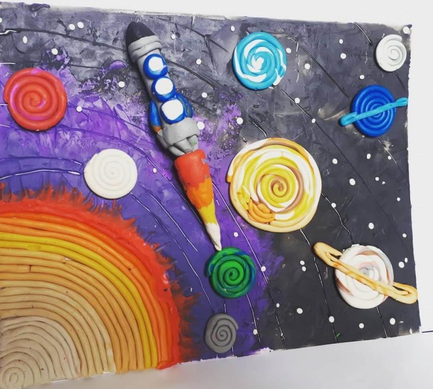 Открытка о космосе своими руками